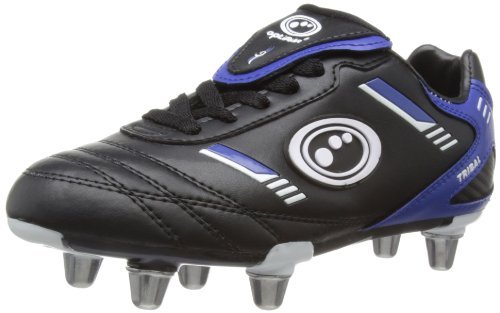 Optimum Tribal   Bota de Rugby Junior, color Negro/Azul (Black/Blue),talla 38 EU