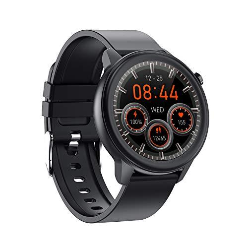 LTLGHY Reloj Inteligente, Smartwatch para Mujer con Termómetro Monitor De Frecuencia Cardíaca, 7 Mode Deporte Oxímetro De Pulso Pulsera Actividad Inteligente para Android iOS,Black 1