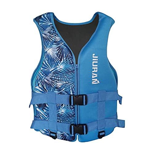 DAMX Neue Schwimmweste für Kinder Verstellbare Schwimmweste Wasserrettung Schwimmweste Geeignetes Tauchtraining Rettungsweste für Mädchen Jungen (Blau, XS)