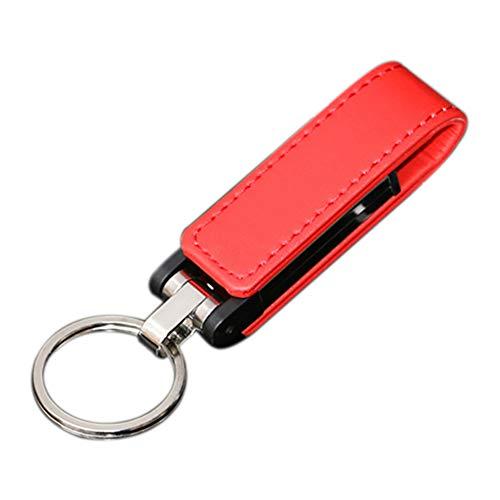 Skyeye Funda de Piel Roja Estilo U Disco USB Flash Drive Pen...