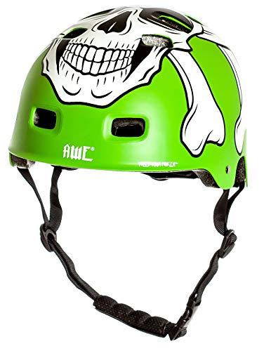 AWE® MEET YOUR MAKERTM BMX Helm Grün 55-58cm FREIES 5 JAHR CRASH ERSATZ * - 3
