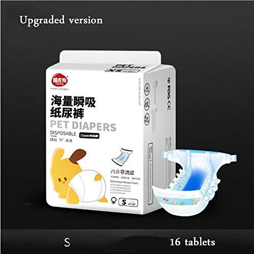 Xihaoer Hond Menstrual Luier Wegwerp Vrouwelijke Wraps Menstruatie Pads Papier Luiers Puppy Shorts Ondergoed Panty, S