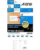 エーワン ラベルシール(インクジェット) マット紙(A4判) 20枚入 28927 2セット + 画材屋ドットコム ポストカードA