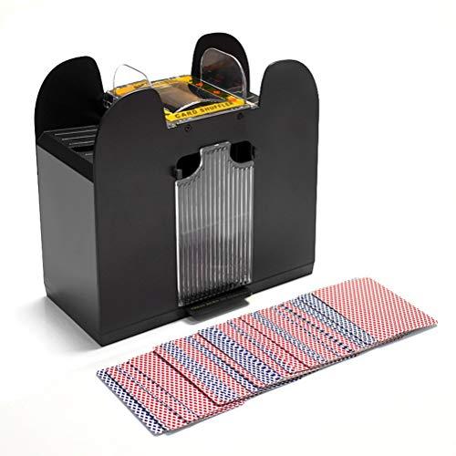 FuYouTa Barajador de Cartas Barajador de póker Mezclador automático de Tarjetas eléctricas Mezcla 6 Barajas de Cartas Mezclador de batería