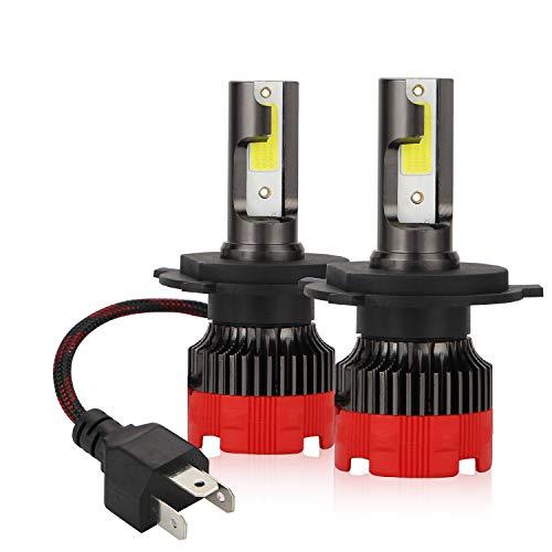 Kairiyard Kit H4 Lampadine per Fari a LED 6000K Fascio HI LO 50W Lampada da Nebbia da 8000LM Chip DOB Estremamente Luminoso 2 Lampade Rotazione a 360° Bi-Xenon Conversione Tutto in Uno 2 Anni Garanzia