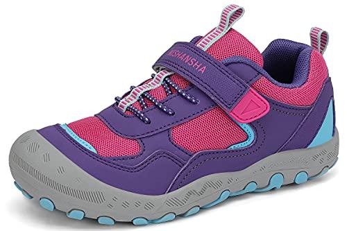 Mishansha Mädchen Trekkingschuhe rutschfest Kinder Wanderschuhe Jungen Weich Sohle Fitnessschuhe violett 29