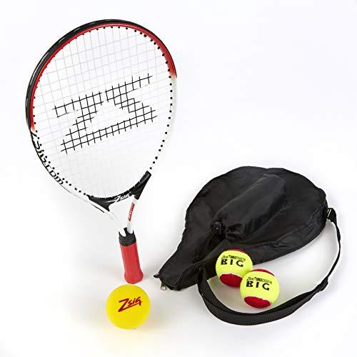 Zsig - Mini Raqueta de Tenis para niños de 53,34 cm, Funda de Bolsillo para la Cabeza, Bolas
