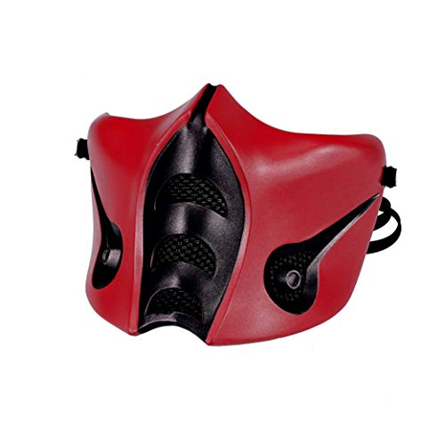 Mortal Kombat Ermac Mask, Jade/Sub-Zero/Kabal/Saibot/Scorpion/Smoke Resin Mask Red Halloween Costume Accessory (Sub-zero MK9)