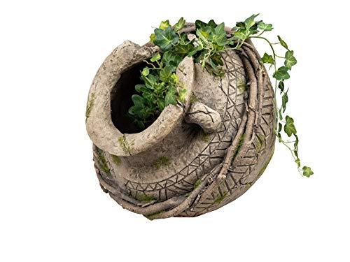dekojohnson - Vaso da fiori in stile antico con anfora, stile mediterraneo, effetto terracotta, 28 x 20 cm