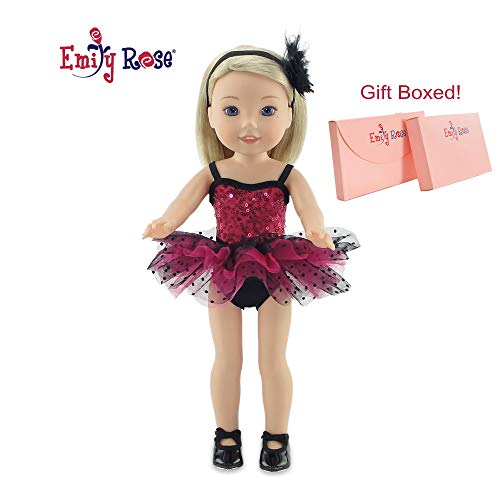 14 Inch Doll Clothes for Glitter Girls and Wellie Wishers | Doll Jazz Ballet Outfit, Includes Real Tap Shoes! | 14' American Girl Wellie Wishers and Glitter Girls Doll Clothes | Gift Boxed!
