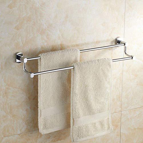 ADSE Toallero de Bronce con Engrosamiento, Barra de Toalla de Doble Poste, estantería de baño, Colgante de baño, Alargado 30-100 cm (tamaño: 50 cm)