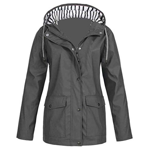E-Scenery Women Coat Solid Rain Plus Sunscreen Outdoor Sports Hooded Raincoat Windproof Jacket