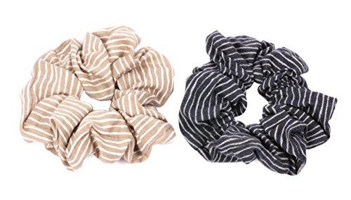 axy® HGUM12-2X Stoff Haargummis Zopfhalter Zopfgummi Haarteil Haarband (Set 1)