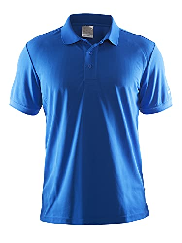 Craft Herren Polo Pique Classic Polohemd, Sweden Blue, L
