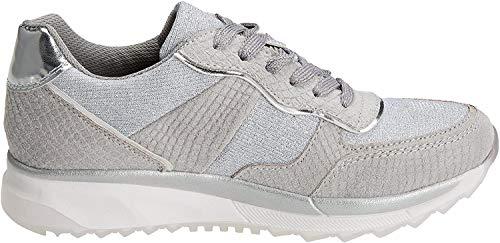 XTI 47792, Zapatillas para Mujer, Plateado (Platinium), 40 EU
