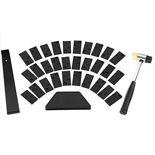 Laminatfußboden-Set, Laminat Holzböden, Montageset mit 30 Abstandshaltern, Gewindeblock, Zugstange und Schlägel #2-004