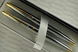 Cross ATX with 23KT Gold, Extremely Chrome Medalist and 23KT Gold Appointments Medium Ballpoint Pen and 0.5MM Pencil Set