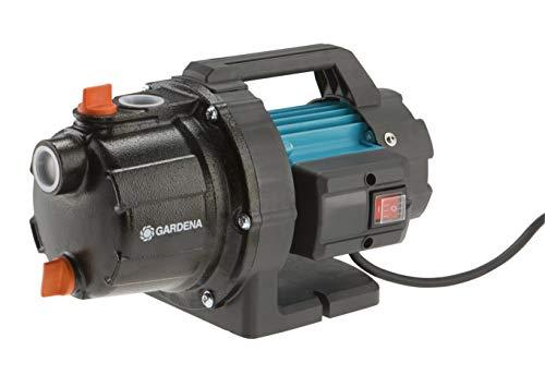 GARDENA Bomba jardín 3700/4 Basic: bomba riego caudal 3700 l/h, potencia 800 W, duradera con eje de acero inox, carcasa de fundición, conexión de rociadores (9010-47)