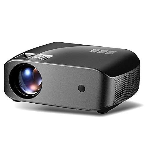 Proyector Inteligente portátil, Potente proyector de Video Ultra HD, Streaming APPS Wi-FI Reflejando Control Remoto LED1080P Altavoz Estéreo Multifunción