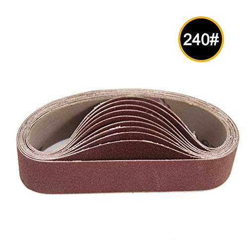 Best Price! Leepesx 10pcs 30x330mm Abrasive Sanding Belts 240 Grit Sanding Grinding Polishing Tools ...