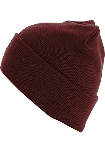 MasterDis Basic Flap Bonnet Longue Version Maroon Taille Unique