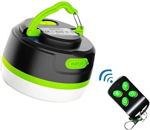 Camping Laterne wiederaufladbar/Power Bank 5000mAh, LED Zeltlicht mit Fernbedienung, USB Camping Laterne, Dimmbar, Magnetfuß, 5 Leuchtmodi für den Notfall
