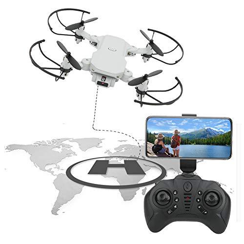 Tomantery Flight RC Drone Gift Mini Drone Pieghevole Regalo per Principianti e Bambini Amici Famiglia Ragazzi Ragazze(Bianco, 1080P)