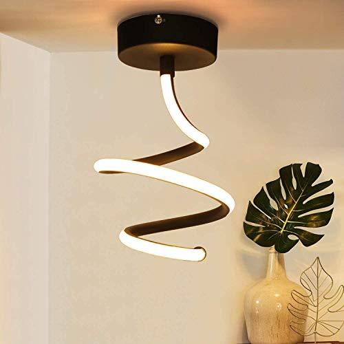 ZMH LED Deckenleuchte Schwarz Deckenlampe Flur Schlafzimmer aus Metall 14W Innen Deckenleuchte Küchenlampe Led Deckenbeleuchtung warmweiß für Wohnzimmer Schlafzimmer Küche Flur