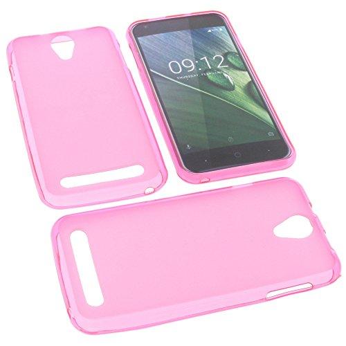 foto-kontor Tasche für Acer Liquid Z6 Gummi TPU Schutz Handytasche pink