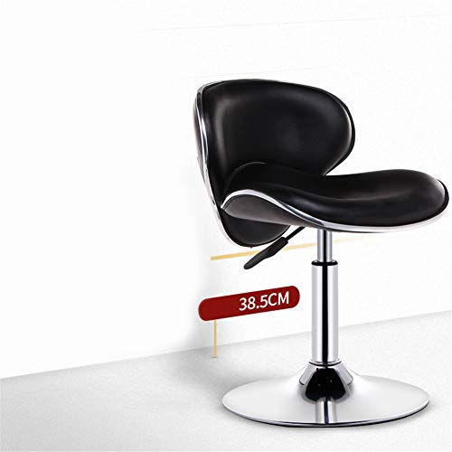ZMXZMQ Adjustable Swivel Bar Chairs with Back Barstools,PU Leather with Chrome Base, for Massage And Salon Office Facial Spa Medical,Black