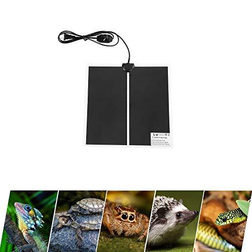 Terrarium Heizmatten, 5W einstellbar Reptile Wärmekissen mit Temperaturregelung für Reptilien Schildkröte, Schlangen, Eidechse, Gecko, Spinne, Raupe - Sicherheit Aquarium Schildkröte Wärmematte