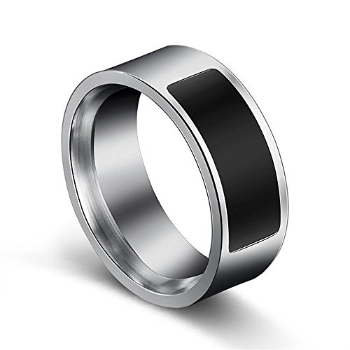 Komise NFC multifunktionaler wasserdichter intelligenter Ring Smart Wear Finger-Digitalring (10, Schwarz)
