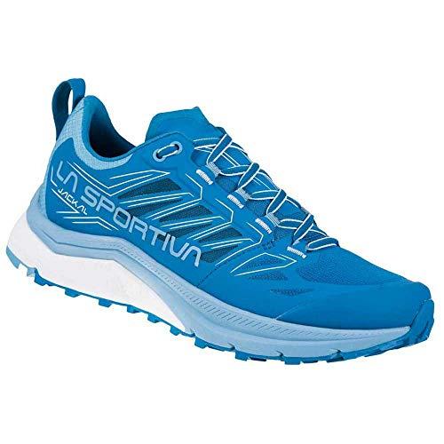 LA SPORTIVA Jackal Woman, Zapatillas de Trail Running Mujer, Neptune/Pacific Blue, 39.5 EU