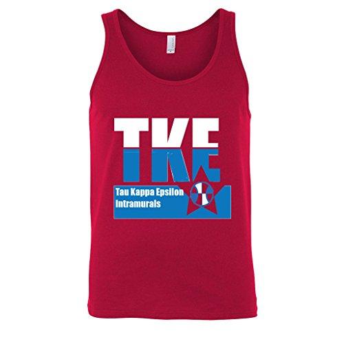 Tau Kappa Epsilon Intramural Red Tank Top- TKE Sport Tanktop (Large)