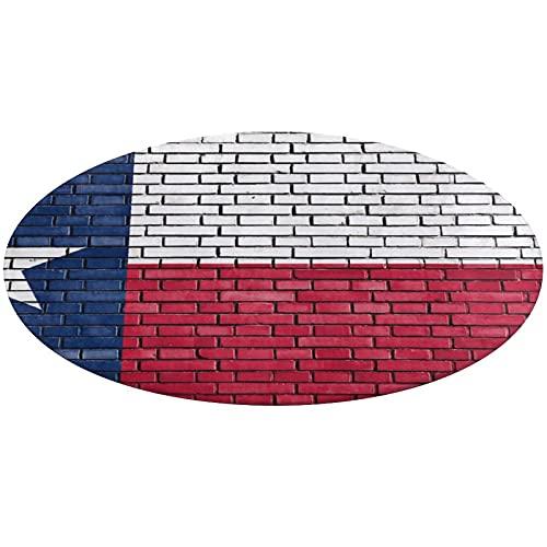 rutschfeste Korallen-Samt-Fußmatte, Bodenteppich Für Wohnzimmer, Schlafzimmer, Badewanne, Dusche, Küche, 60 cm Flagge Von Texas Auf Mauer Gemalt