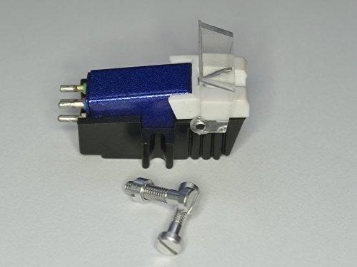Blauwe cartridge en diamant naald met de juiste montage schroeven voor DENON DP 62L, DP 11F, DP 23F, DP 300F, DP 30L, DP 35F, DP 37F, DP 45F, DP 47F, DP 51F, DP 52F, DP 57L, DP 59L, DP 60L, DP 72L, platenspeler afnemer, naald