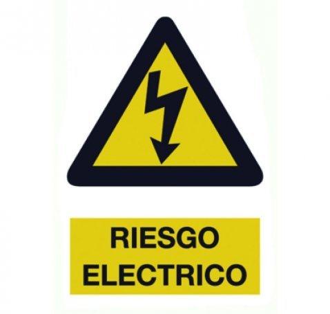 Cartel PVC Riesgo Eléctrico 40x30 cm