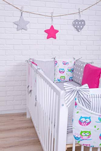 Zieba - Biancheria da letto, design 8, con cuscini paracolpi, 100 x 135 cm