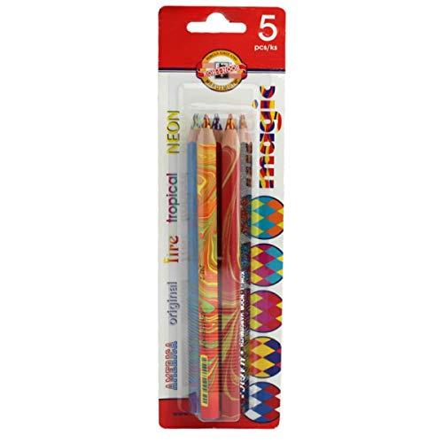 Assorted Colours 36 Pack KOH-I-NOOR /'The Mole/' School Coloured Pencils Set
