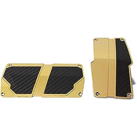 Gold Chrome w//Black Carbon UrMarketOutlet NRG PDL-150CG Brake//Gas Automatic at Sport Race Foot Pedal Plates Cover Set