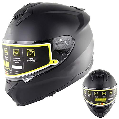 BDTOT Casco Integral de Motocicleta Dot/ECE Homologado Casco Moto con Parasol y Cristal Antivaho Forro Extraíble y Lavable para Mujer Hombre Adultos Montar Al Aire Libre Apto 57-66cm