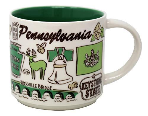 Starbucks Been There Series Pennsylvania Ceramic Mug, 14 Oz