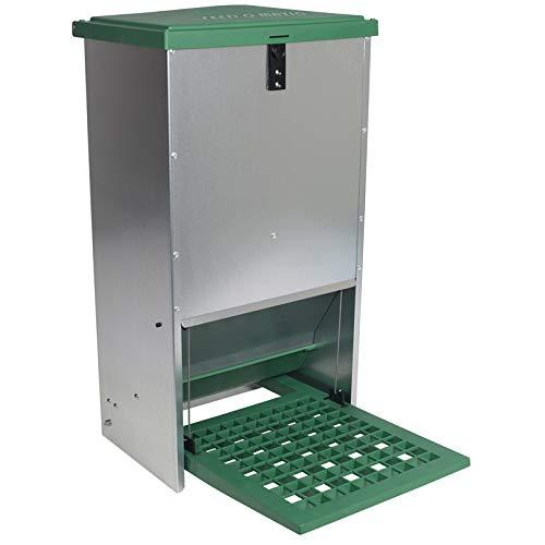 Automatischer Futtertrog Feedomatic 20kg, Geflügelfutterautomat für Hühner, Gänse, Enten