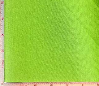 Bright Green Jersey Fabric 2 Way Stretch Combed Ring Spun, CPRS Cotton 7 Oz 62-64