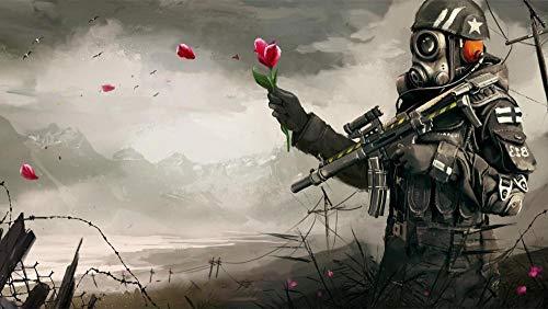 Puzzel 1000 Stukjes, Soldaten Geven Rose Bloem, 1500/1000/500 Stukjes, Puzzel Spelletjes Woondecoratie Cadeaus