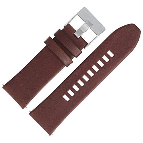 Diesel Correa de reloj de 26 mm de piel marrón – DZ-4290