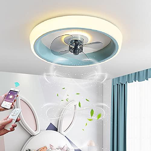 Ventilador de Techo con Luz LED Fan Lámpara de Techo con Mando a Distancia Mando Ventilador de Techo con Iluminación Silencioso Temporizador 3 Velocidades De Viento para InfantilDormitorio Salón