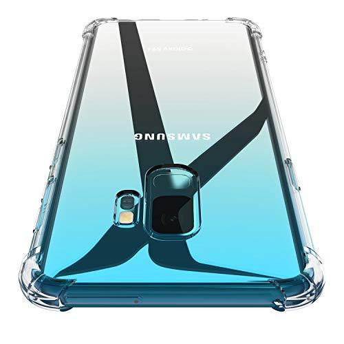 Losvick Coque pour Samsung Galaxy S9, Clear Silicone Ultra Mince Premium TPU Quatre Coins Renforcé Housse Souple Gel Protection Antichoc Anti-Rayures Bumper Etui Cover pour Galaxy S9 - Transparent