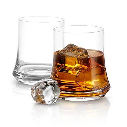 Vasos de whisky de lujo - Colección Cosmos 12,5 oz - Juego de 2 vasos de whisky de moda antigua - Cristal de alta calidad sin plomo - Diseño elegante y moderno - Ideal para el hogar, bar