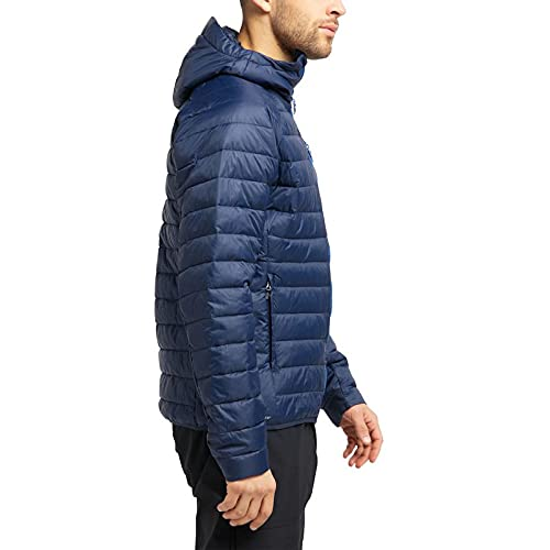 Haglöfs Steppjacke Herren Spire Mimic Hood Insulating, atmungsaktiv, wasserabweisend Tarn Blue S S